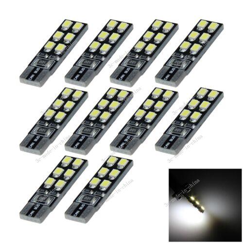 10X Car 12 LED 2835 Canbus Error Free  T10 W5W Wedge Side Light Bulb Lamp A097