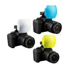 Three Color Flash Diffuser LightSphere Omni Bounce For Nikon Canon Fuji