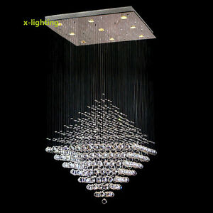 Modern lighting crystal pendant lamp diamond ceiling light rain drop image is loading modern lighting crystal pendant lamp diamond ceiling light aloadofball Images
