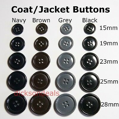 1 HOLE TOP QUALITY PLASTIC TOGGLE BUTTONS 38MM X 10MM CHOOSE COLOUR /& AMOUNT