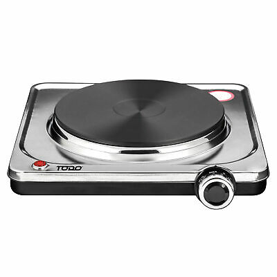 Details about  TODO 1500W Portable Hotplate Electric Cooktop Single Stainless Steel