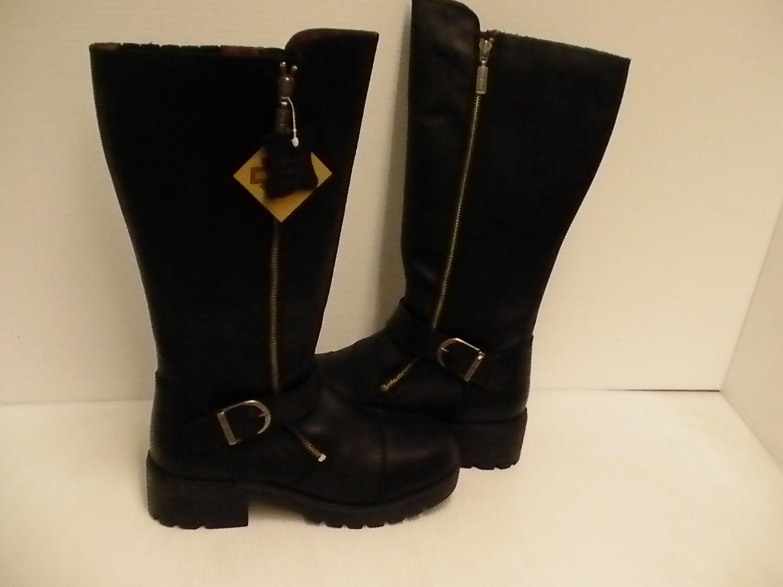 Women's harley davidson boots size 9.5 west end zipper knee black 82015 new
