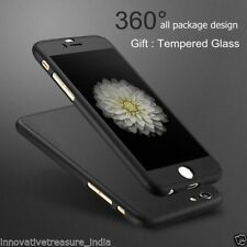 Luxury*360 Degree*Full Body Protection Black Cover Case panel For iPhone 6 6s