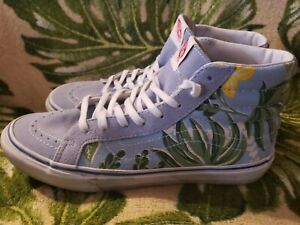 Blue Floral High Tops Size M8 W9