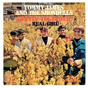 Tommy-James-1967-Roulette-45rpm-amp-Picture-Sleeve-Gettin-039-Together-b-w-Real-Girl
