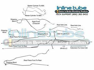 1999-2005 Ford F250 F350 SD CREWCAB SHORTBED Brake Line Set Kit 4WD 4ABS  11P OE | eBayeBay