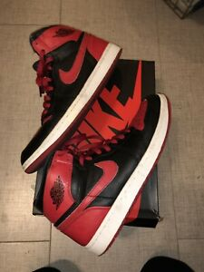 hot sale online 475a3 4c01e Image is loading Nike-Air-Jordan-1-Retro-HIGH-BAN-Size-