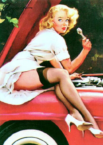 Help Wanted by Gil Elvgren Pin UP Giclee Unstretched Canvas 20x25