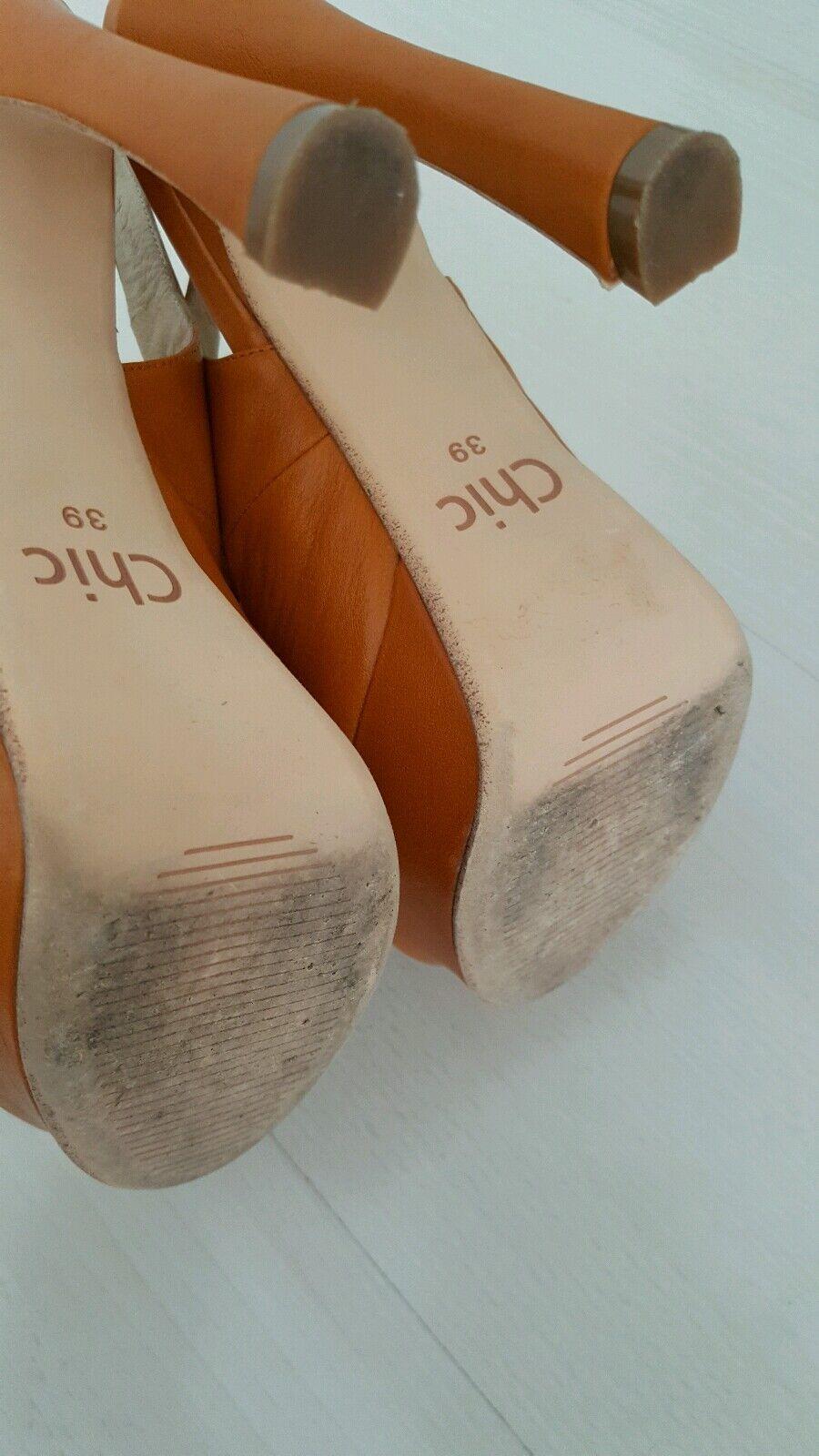 Chic  Damen Schuhe Pumps High Heel Leder ausgefallen  Chic gr.39 2f3e30