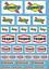 miniature 5 - DECALCOMANIE DECALS 1/43 10 sponsors Texaco STP Sunoco Dickies Oil gasoline 1/32
