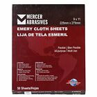 Mercer Industries 216036-9 x 11 Multi-Purpose Emery Cloth Sheets Grit 36 50 pack