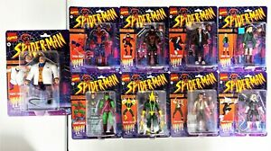 """Marvel Legends Retro Vintage SPIDER-MAN 6"""" 15cm Set of 9 AF's+ Exclusives HASBRO"""