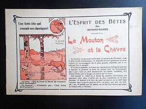 RARISSIME-L-039-esprit-des-Betes-Benjamin-Rabier-Le-mouton-la-chevre-TTBE-annees-20