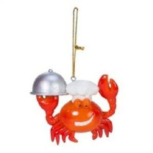 Crab Nautical Christmas Ornament