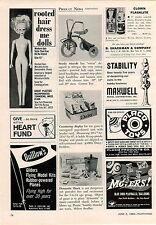 1969 ADVERT Daisy Kid Toy Gun Store Display Countertop Clown Flashlight
