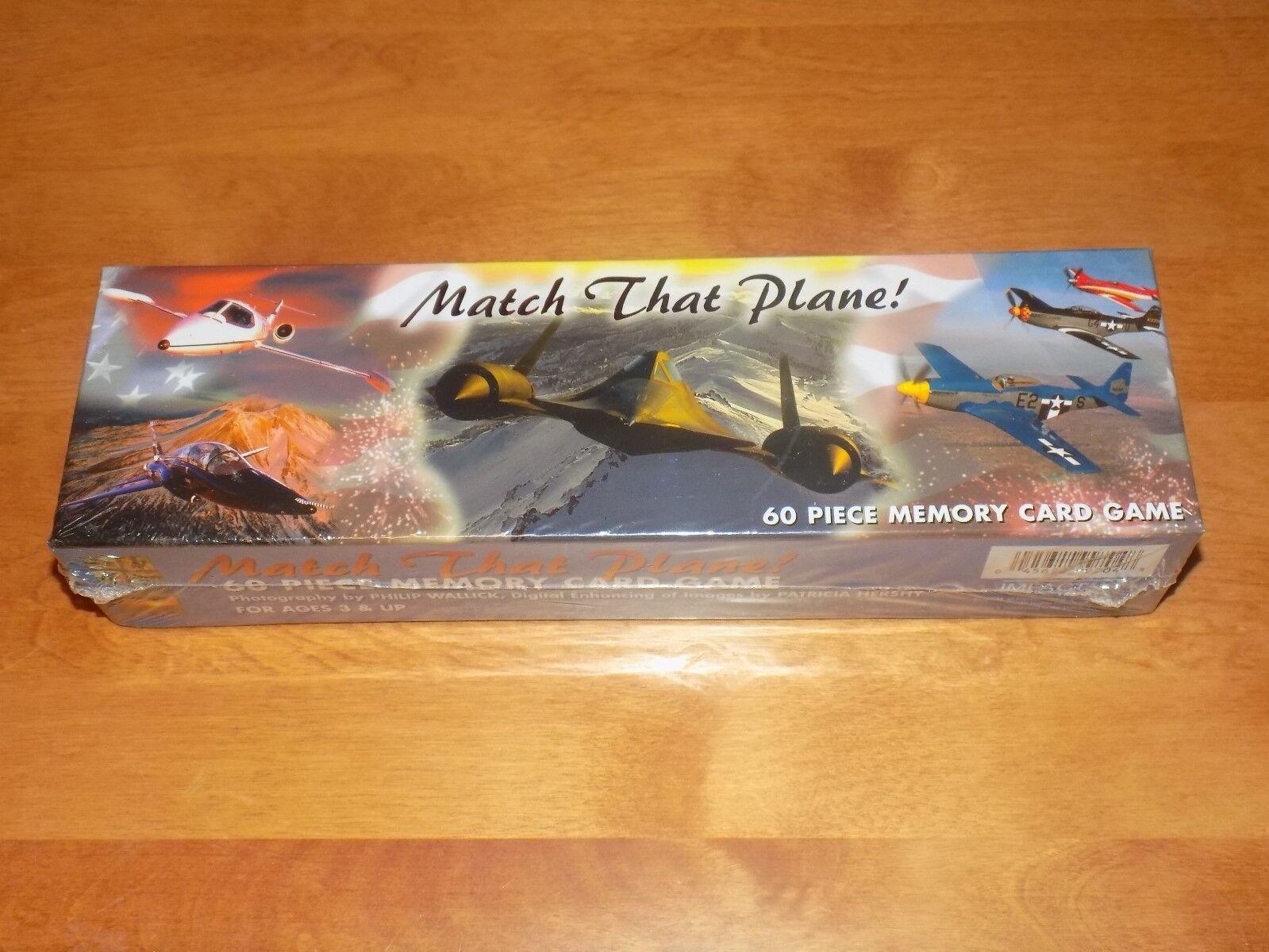 MATCH THAT PLANE   AVIATION AIRCRAFT PLANES 60 Piece Memory autod gioco SEALED nuovo  alta qualità