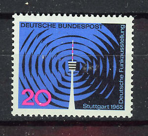 ALEMANIA-RFA-WEST-GERMANY-1965-MNH-SC-932-Radio-and-TV-Exhib-Stuttgart