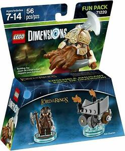 LEGO Dimensions Lord of the Rings Gimli Axe Chariot Fun Pack 71220 NEW