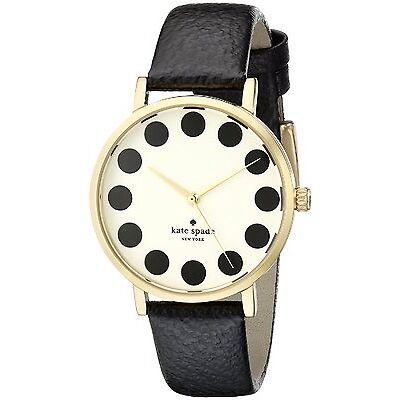 Kate Spade Women's Metro 1YRU0107 Black Leather Quartz Watch