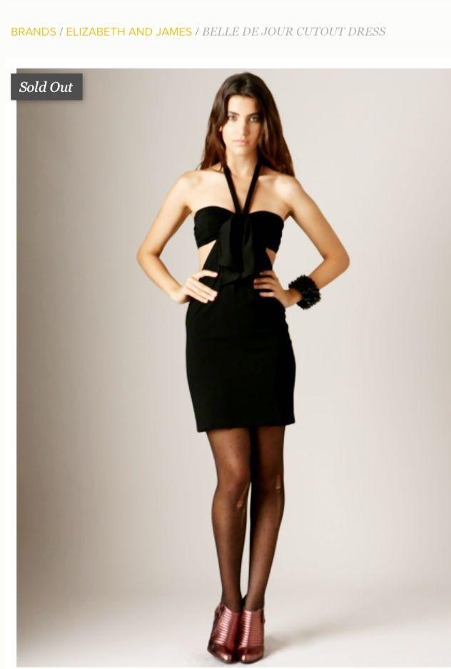 Elizabeth and James Dress Belle De Jour Dress schwarz Cutout Größe X-Small