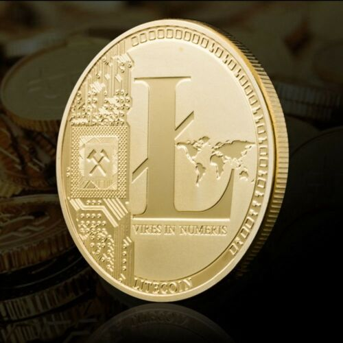 Gold Plated 25 Litecoin Coins Vires in Numeris Commemorative Coins Collection
