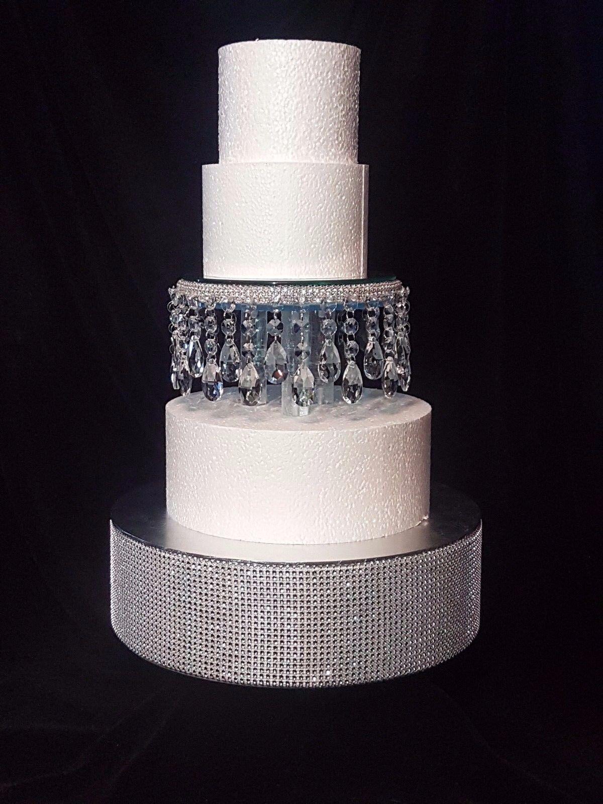 Crystal droplet Cake Separator  6   8  10  diameters - scroll to see video clip