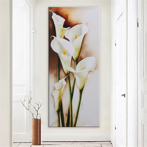 Unframed Canvas Print Paintings Lily Flowers Picture Home Bedroom Wall Art Decor