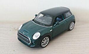 New-Mini-Hatch-Diecast-Scale-Model-Car-Scale-1-38-Green-NEW