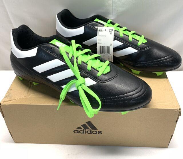 6e7e2a1b430bd adidas Mens Goletto VI FG Soccer Cleats Bb4841 Sz 13 Black White Green