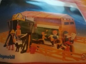 Lot Playmobil 3436 Ancien - Centre Equestre Poney Club Rare Complet À 99%