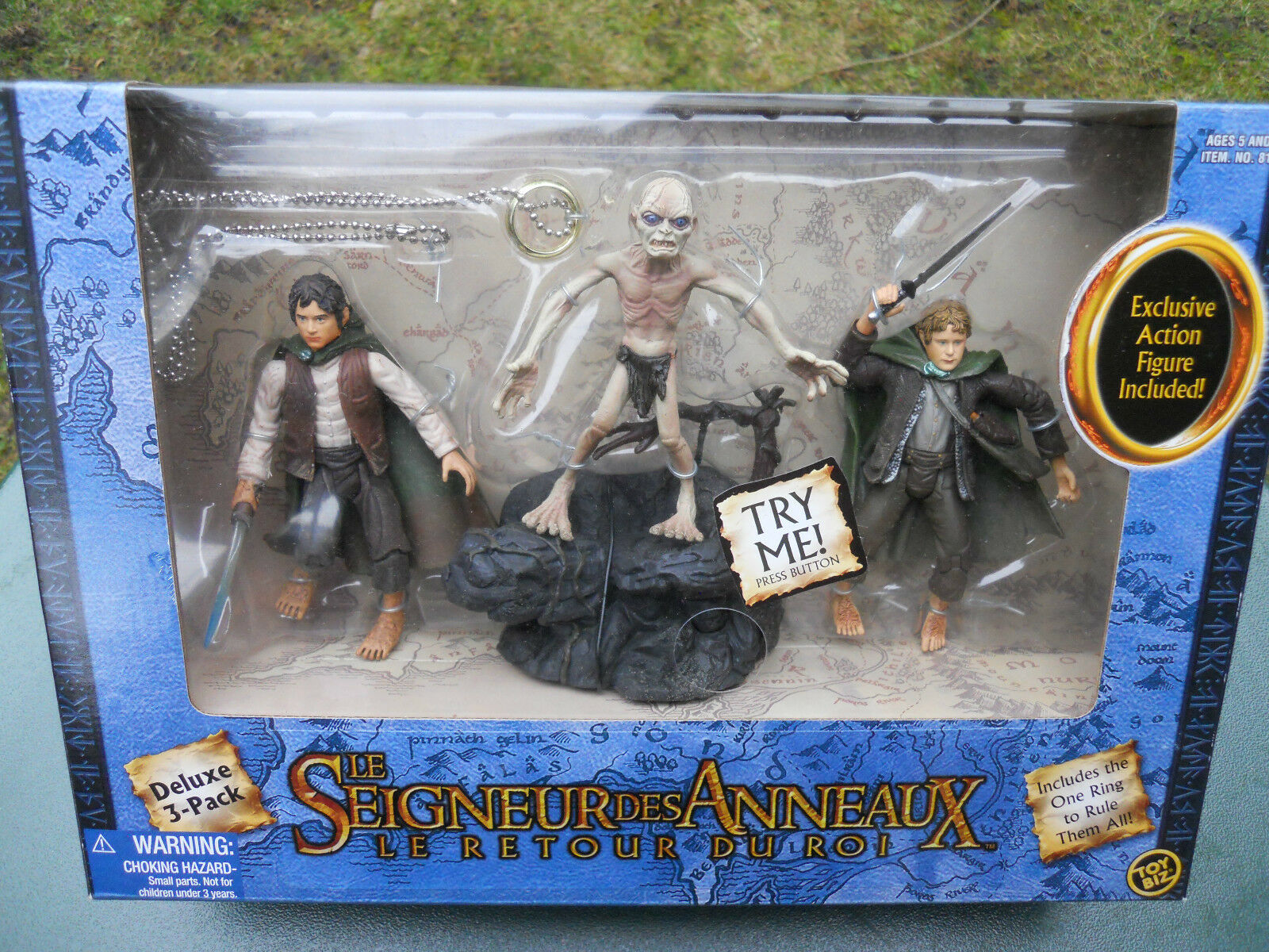 LORD OF THE RINGS THE RETOUR OF THE KING BOXSET 3 FIGURINES FRODO, GOLLUM, SAM