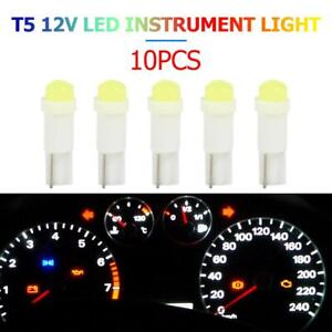 Details about 10pcs T5 3D COB LED Bulbs for Car Instrument Cluster Light  Reading Lamp White