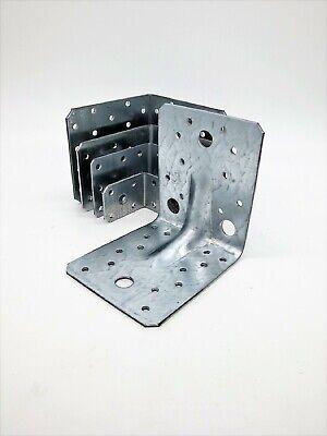 Winkelverbinder Lochwinkel Bau verzinkt 90 x 90 x 65  2,5 mm Winkel Rippe 100Stk