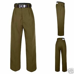 Boy Kid Teen Formal School Uniform Pants Trousers Dark Taupe Belt Set sz 2T-20