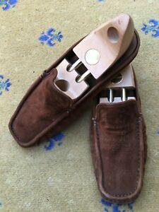 Hermes-Homme-Chaussures-En-Daim-Marron-UK-10-US-11-EU-44-Pantoufles-Mule