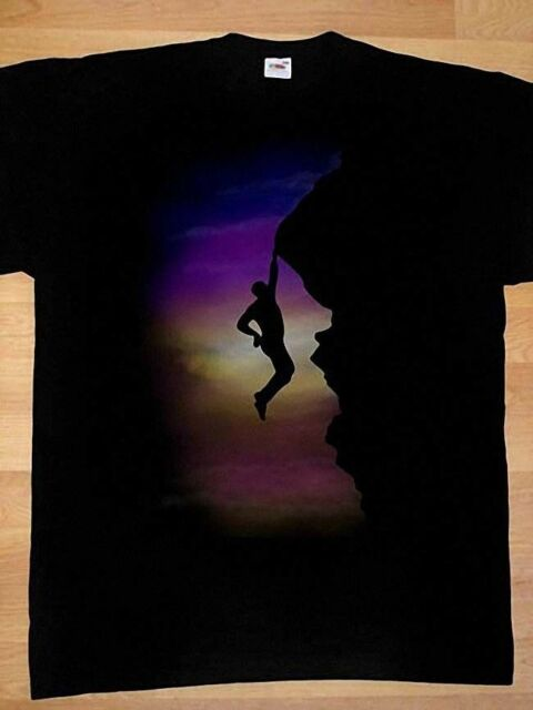 Vertical Rope Rock Climbers WOMENS T-SHIRT Climb Funny Present Gift birthday