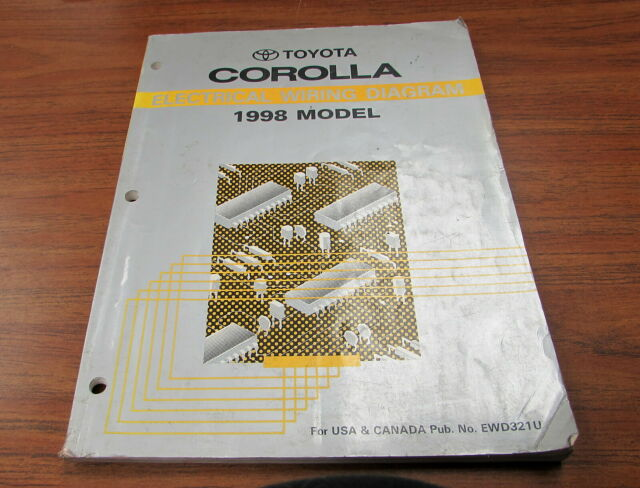 1998 Toyota Corolla Electrical Wiring Diagram Service