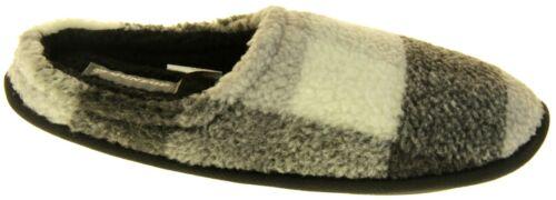 Mens DUNLOP Comfy Warm Fleece Lined Mule Scuffs Slippers Size UK 6 7 8 9 10 11