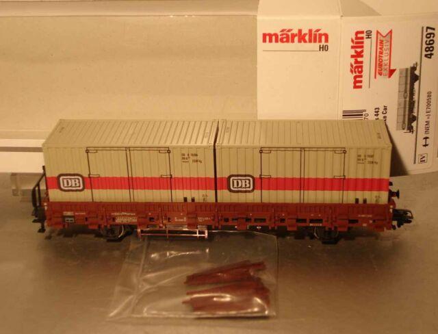 Märklin HO:  48697 Rungenwagen mit Containern      NEU + OVP
