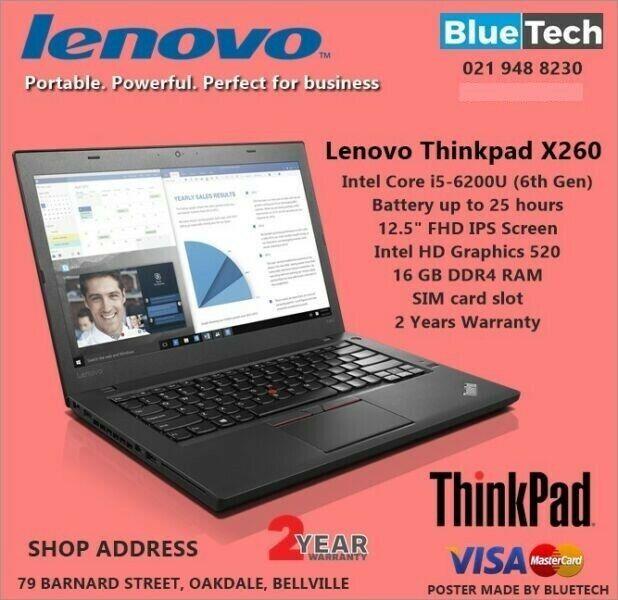 Lenovo ThinkPad X260 Core i5 6200U 12.5 Notebook 2 Year Warranty.