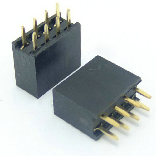 10X 2x4 Pin 8P 2.54mm Double Row Female Straight Header Pitch Socket Strip ODUH$