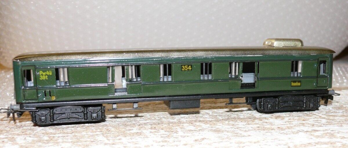 K15 Märklin 354  Gepäckwagen Blech Guss Drehgestell