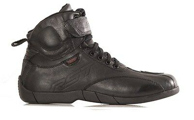 RST STUNT 2 PRO Black Leather Ankle Sports Motorcycle/Scooter Boots/Shoes 1632