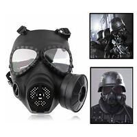 Airsoft Paintball Full Face Protection Ma-27 Dummy Gas Mask Turbo Fan System Gy
