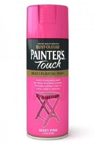 Berry Pink Gloss Fast Dry Spray Paint Aerosol 400ml