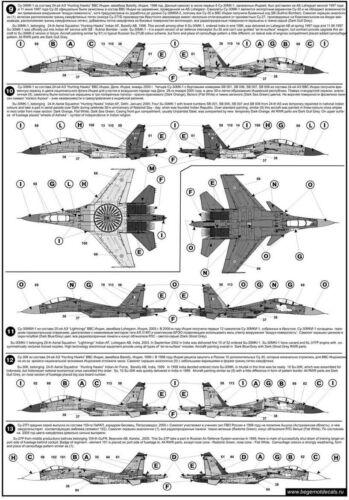 part 1 BGM-72025 Begemot Decals 1//72 Sukhoi Su-27 Flanker Russian Jet Fighter