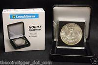 1 Morgan Silver Dollar Quadrum Intercept 2x2 Coin Holder Snap + Display Box Case