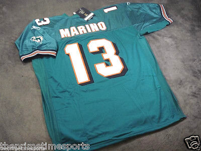 DAN MARINO #13 - Miami Dolphins Green NFL Sewn Jersey --- ALL SIZES AVAILABLE