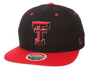 TEXAS-TECH-RED-RAIDERS-NCAA-Z11-ADJUSTABLE-2-TONE-SNAPBACK-ZEPHYR-CAP-HAT-NEW