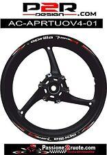 Adesivi cerchi Aprilia Tuono V4 striscie ruote wheels stickers